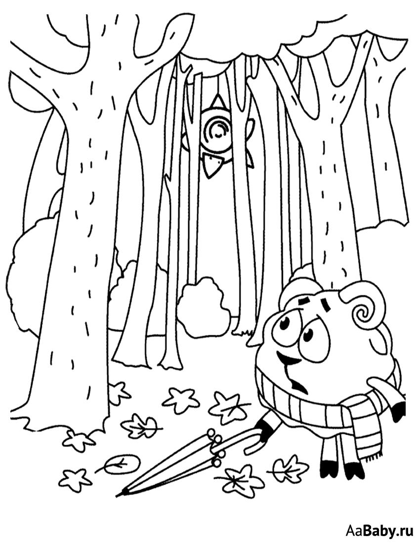 Ежик в осеннем лесу   aaBaby - Чем занять ребенка