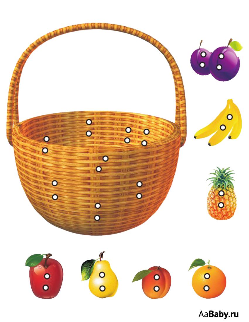 Картинки для детей корзина для овощей и фруктов