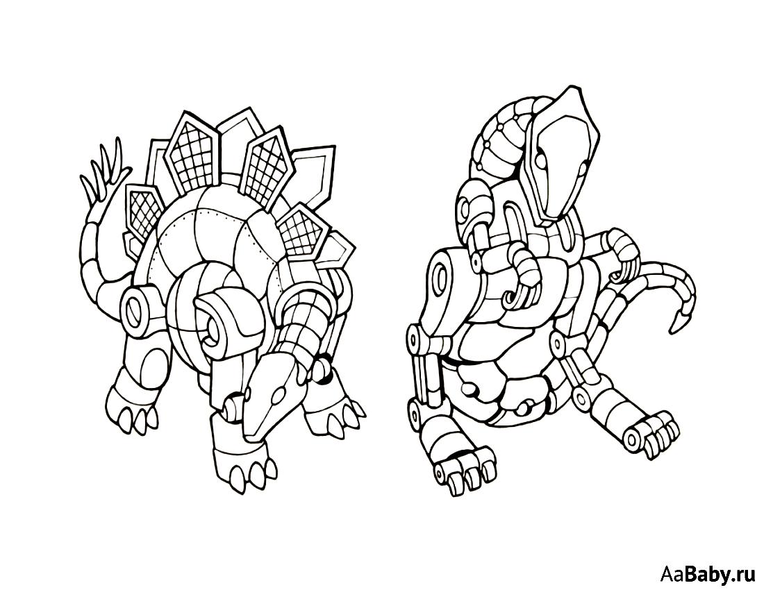робот динозавр картинка рисунок
