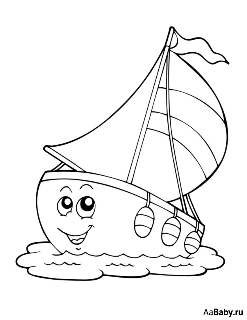 Кораблики черно белые картинки