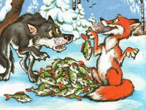 Сказка Лиса и волк читать