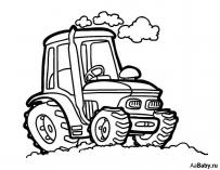 Раскраски Автовоз - распечатать в формате А4   157x203